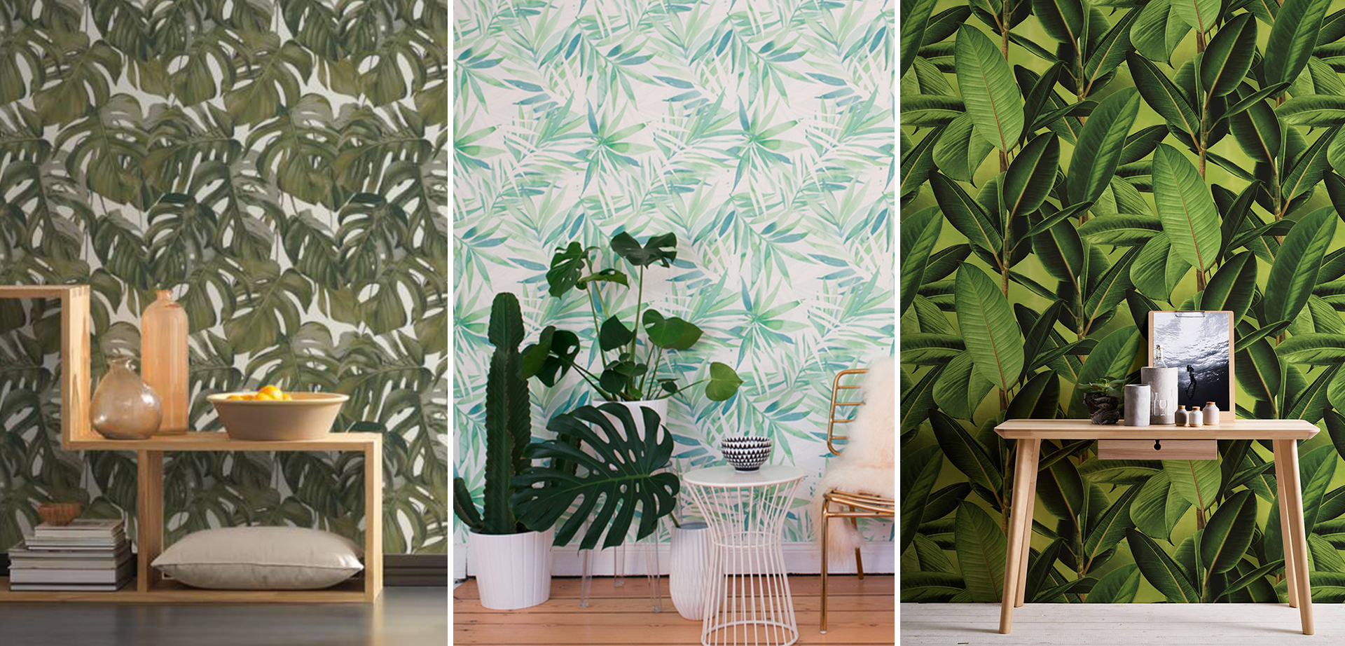 tropical style wallpaper